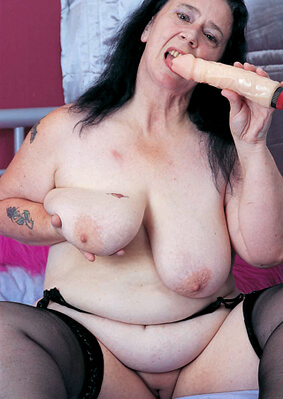 slag gilf and her sex toy